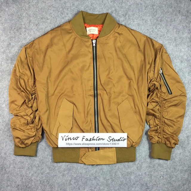 55b2844966f1 Best version fear of god Bomber Jacket fourth collection Justin Bieber  classic elastic sleeve winter men