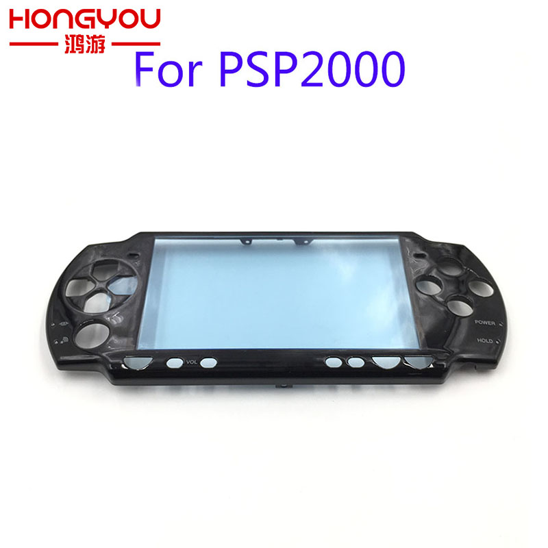 Schwarz Original Frontblende Shell Fall Abdeckung Proctector Ersatz Für Sony PSP 2000