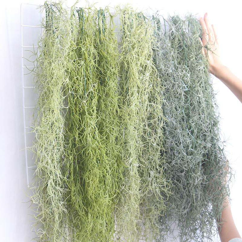 91cm Air Plant Grass Leaf Hanging Wall Greenery For Garden Plastic Artificial Vine 4pcs/lot  vines succulents