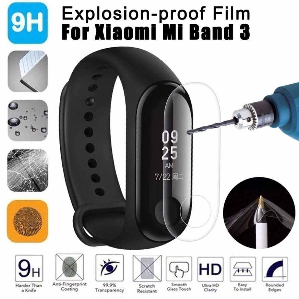 mi band 3 2pcs For Xiaomi Mi Band 3 Screen Protector Miband3 HD Ultra Thin Anti-scratch Film Soft film Not Tempered Glass tempered glass screen protector for xiaomi mi mix transparent