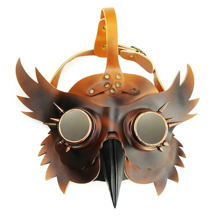 Face Mask Leather Steampunk Plague Bird Plague Doctor Cosplay Prop Gothic