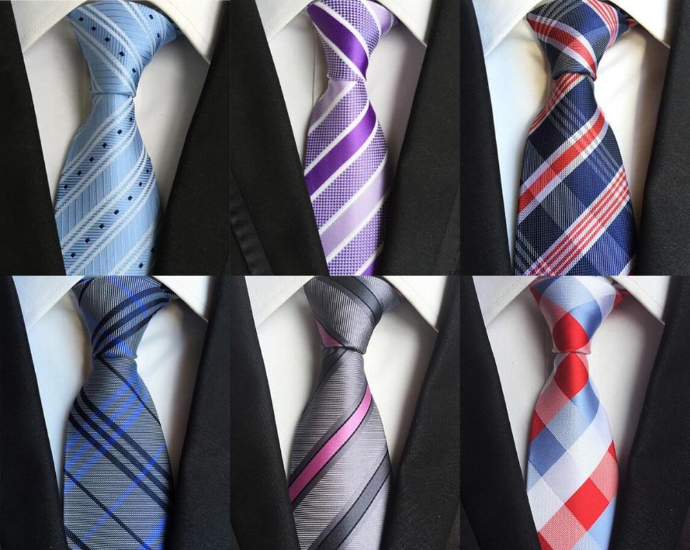 New Design 100% Silk Men Tie 8cm Striped Classic Business Neck Tie For Men Suit For Wedding Party Necktie Factory Sale
