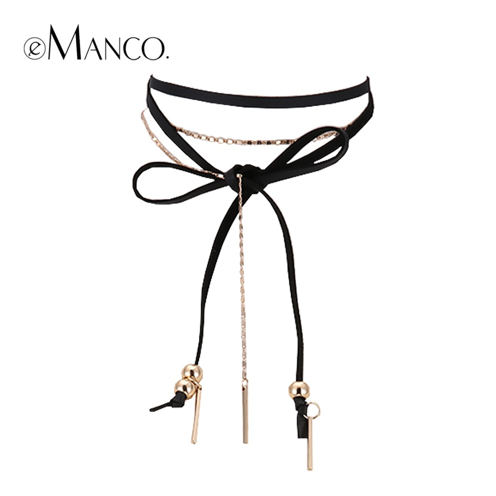 eManco women's Long Luxury Zinc Alloy Chain Necklace Rock