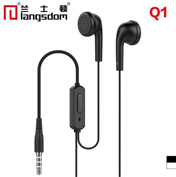 Original langsdom q1 estéreo auriculares de teléfonos inteligentes música micróf