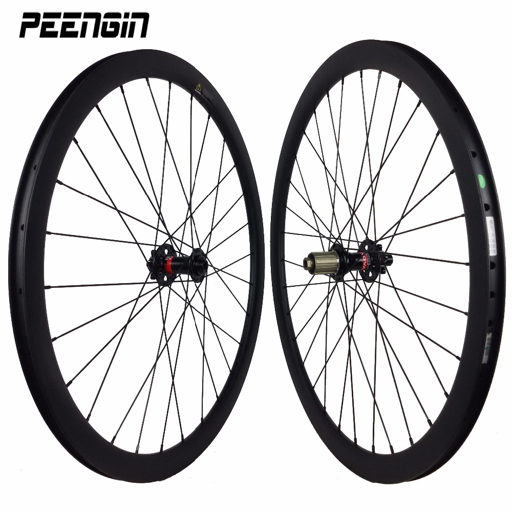 carbon cyclo cross wheelset clincher wheel disc brake Cheap price 23/25mm wide tubular rodas carbono 38mm Novatec cyclocross hub 50mm carbon disc brake bicycle wheel set 700c 25mm carbon 38mm clincher wheelset for secure riding made in amoy trading company