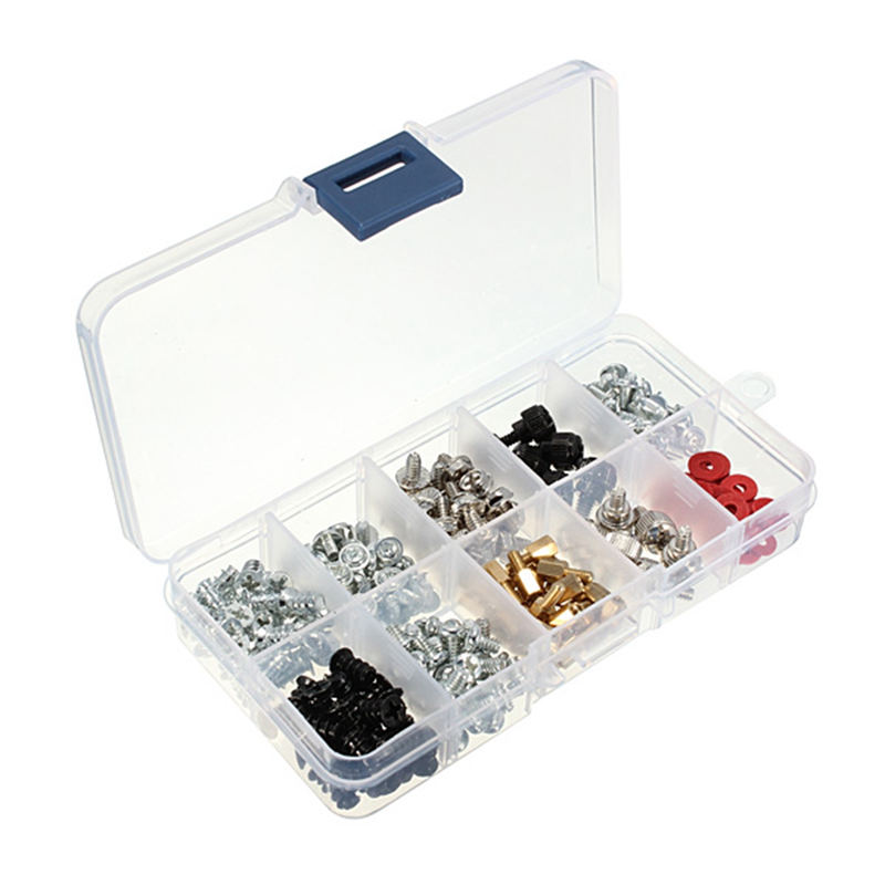 Best Price 228Pcs Pack Screws Kit for Motherboard PC Case Fan CD-ROM Hard Disk Notebook 6 4 imperial standard brass pc case screws kit 20 pack