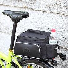 High-quality 10L Roswheel Bicycle Trunk Pannier Bike Rear Carrier Bag Tear-resistant Black Seat Bolso Cycling Pouch Handle Bolsa