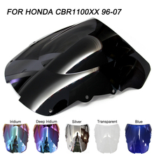ABS Windscreen For Honda CBR1100XX 1997 1998 1999 2000 2001 2002 2003 2004 2005 2006 2007 Motorcycle Windshield Wind Deflectors 2pcs for peugeot 206 1998 1999 2000 2001 2002 2003 2004 2005 2006 2007 with gift rear tailgate gas struts spring boot holders