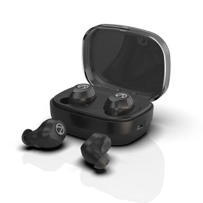 Binaural IPX7 Waterproof 5.0 Bluetooth TWS Wireless Bluetooth Headset with Built-in Micr Sweat Proof Earphone Noise Cancelling
