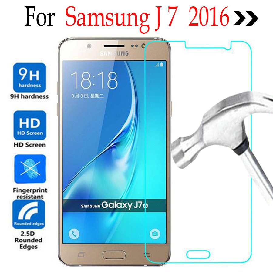 For Samsung Galaxy J7 2016 Tempered glass Screen Protector Cover On Samsung Galaxy J710F J710FN J710M J710H Protective Film Case