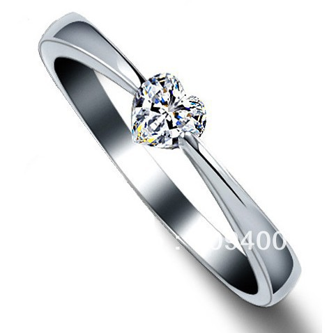 Natural Stone Rings For Women and Men Fashion Heart Love Crystal Jewelry 925 Sterling Silver  Couple Rings