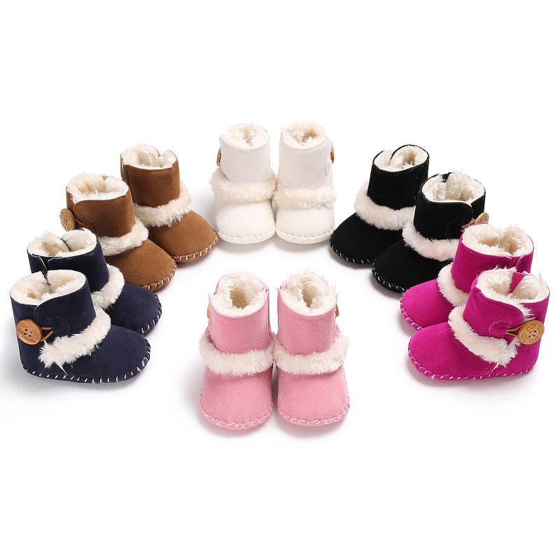 New Infant Boy & Girl  Soft Bottom Snow Boots Winter Warm Ankle Casual Boots 2