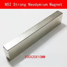 100*20*10mm N52 Super Strong Magnets L100X20X10mm Neodymium Rare Earth Bar N52 Magnet