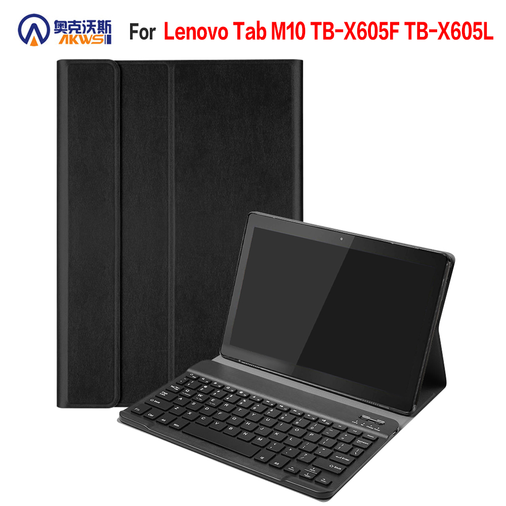 Removable Bluetooth Keyboard Leather Case For New Lenovo Tab M10 TB-X605F TB-X605L Cover Funda Multi-lingualism Keyboard Case
