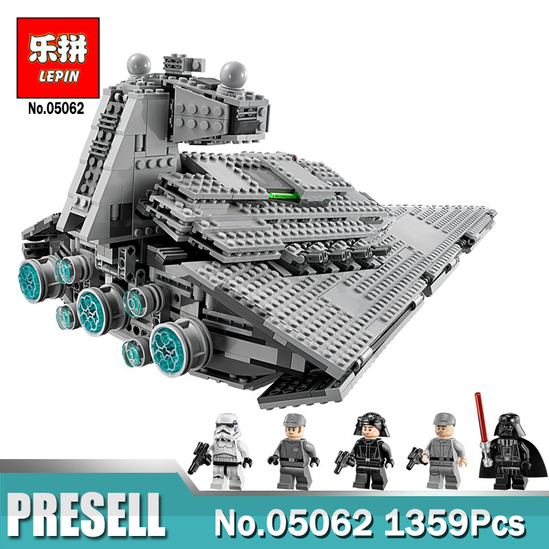 Lepin 05062 Wars on Star The Imperial Super Star Destroyer Set Building Blocks Bricks Compatible Legoings 75055 Toy lepin 05062 1359pcs series the imperial super star destroyer set building blocks bricks compatible with 75055 boy toy