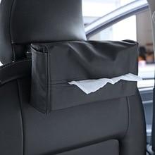 LEEPEE автомобиль интерьерные аксессуары контейнер держатель для салфеток автомобильный Стайлинг тканевая коробка портативный удобный автомобильный тканевый ящик крышка кожа