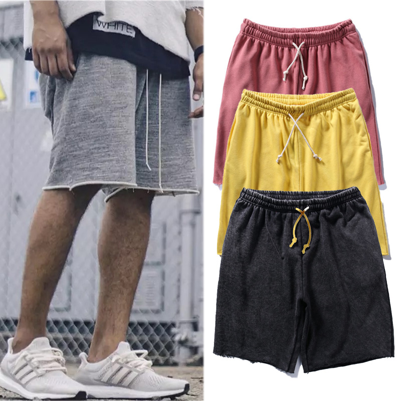 Fear Of God Shorts 2018 New Justin Bieber Men Women Fear Of God Shorts Streetwear Drawstring Casual Fear Of God Distress Shorts