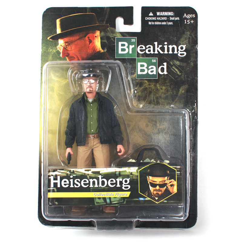 Original Limited Edition Mezco Toyz BREAKING BAD WALTER WHITE Heisenberg Action Figure Figurine in box In Stock top quality t10 194 168 cob 1 led w5w wedge side light car license plate bulb lamp dc12v pink green yellow red pure white