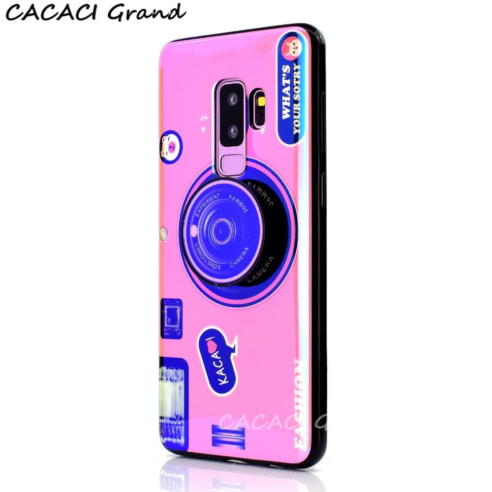 Silicon Cover for Samsung S10 Plus S10e A7 2018 Retro Camera Bluray Strap Phone Case for Samsung S8 S9 Plus S7 Edge Note 8 9