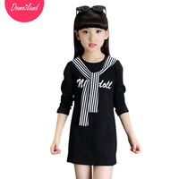 2017 Spring Fashion Brand Domeiland Cute Children Clothes Long Sleeve Kids Print Stripe Girl T Shirts