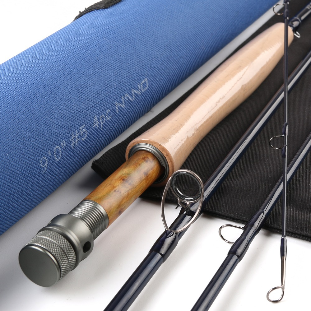 Maximumcatch NANO Core Carbon Fly Rod  9FT 5WT 4PCS With A  Cordura Tube Fast Action Fly Fishing Rod maximumcatch brand nano fly fishing rod 8 4ft 3wt 4pcs with cordura tube nano fly rod
