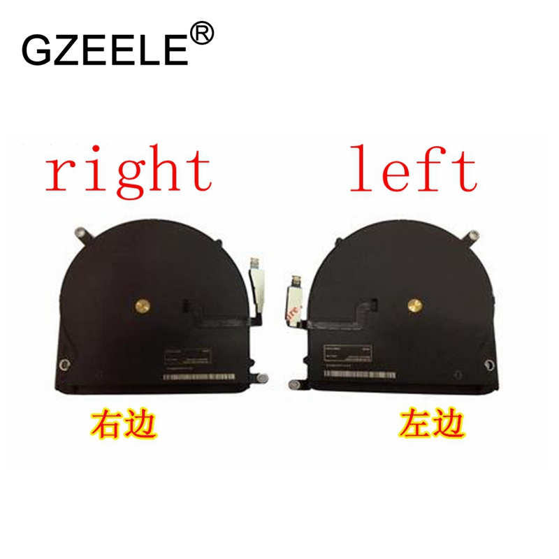 GZEELE new Laptop cpu Cooling Fan For Macbook Pro Retina 15 A1398 2012 2013 CPU Cooler Fan Right & Left side 923-0091 923-0092
