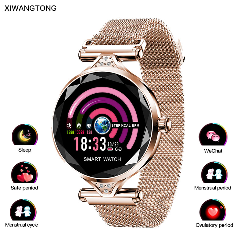 Fashion smart bracelet for women real time sleep monitoring 24 hours heart rate monitoring blood pressure