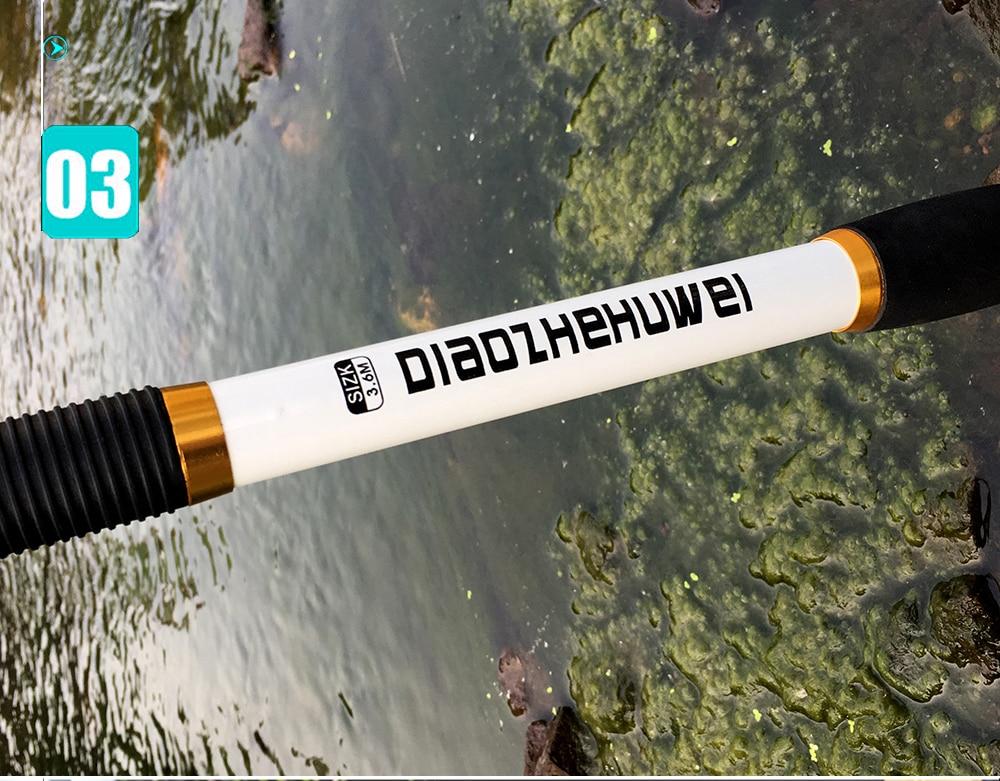 de pesca telescópica vara de pesca 2.1