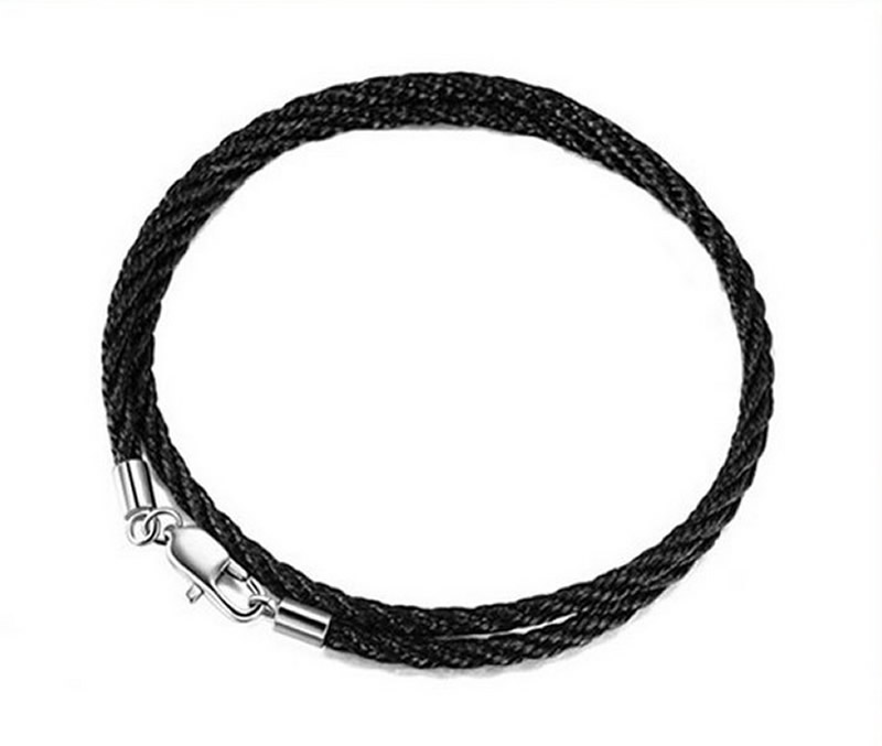 Beadsnice Silver 925 Elegant Leather Cord End Caps With Lobster Clasp For Leather Bracelet Handmade Jewelry Making ID25295