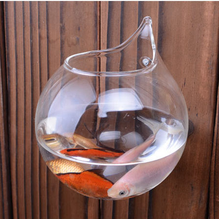 15cm Home Decoration Glass Vases Wall Hanging Decorative Vases Fish