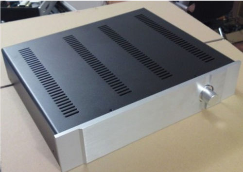 B-047 QUEENWAY 4309 CNC quality FULL aluminum amplifier Case for BASS X1 preamp enclosure amp Chassis 430mm*90mm*350mm queenway 4308 cnc full aluminum chassis amp case enclosure psu box diy 430mm 80mm 330mm 430 80 330mm