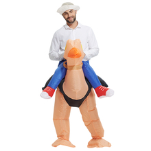 Adult Inflatable Ostrich Costume for Men Women Halloween Party Animal Unisex Easter Jumpsuit Event Promoter Carnival Fancy Dress