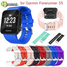 Купить с кэшбэком Fr35 Colorful Replacement Wristband Watch band Wrist straps Silicagel Soft Band  Strap for Garmin Forerunner 35 smart Watch band
