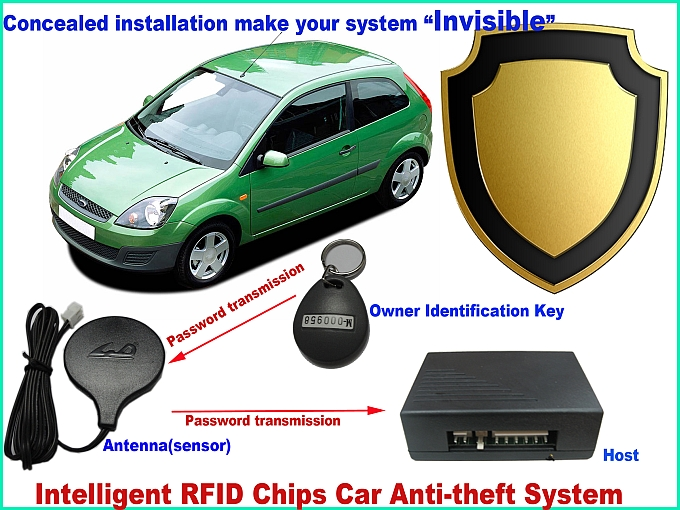 upgrade RFID car immobilizer Auto Anti-theft via cut off circuit invisible car ignition cut off security Own identifying system identifying