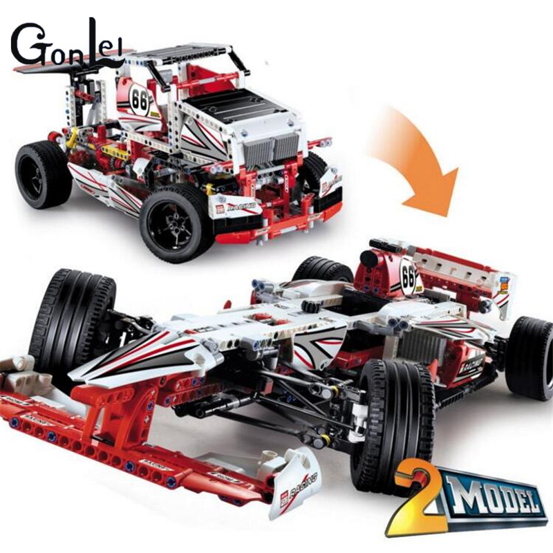 (GonLeI)3366 Technic Grand Prix Racer building bricks blocks Toys for children Compatible with Bela motul kart grand prix 2 t
