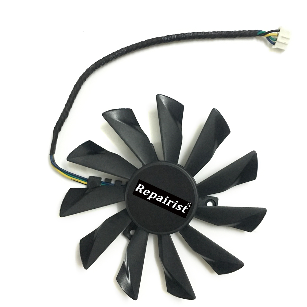 GPU Cooler 95mm 4 Pin PLD10010S12HH Graphics Card Fan Cooler For Radeon MSI GTX 770 760 R9 280X 290X as Replacement new for msi ms 16f1 16f2 16f3 1656 1727 notebook pc graphics video card ati mobility radeon hd 5870 hd5870 1gb gddr5 drive case