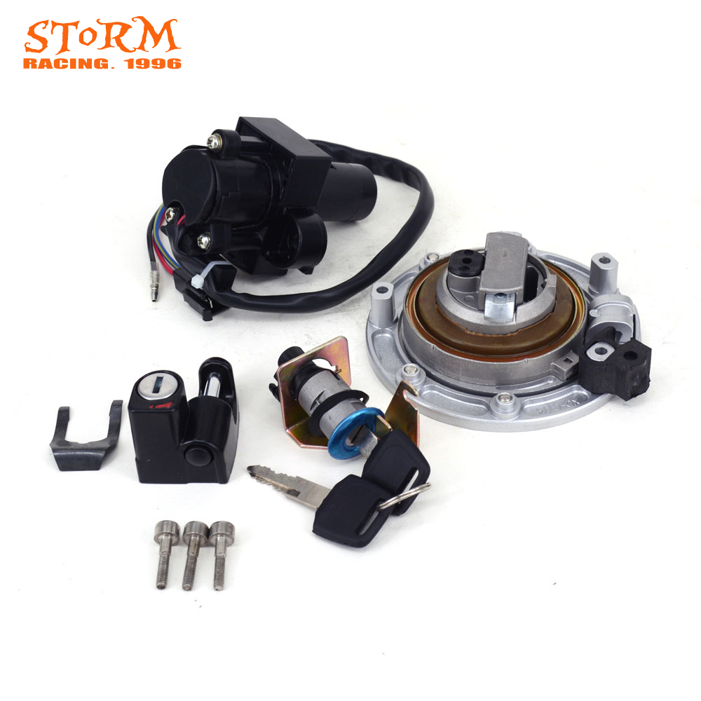 Motorcycle Ignition Switch Seat Lock Key Fuel Gas Cap Set For Honda VT250 VT 250 CB400 CB 400 1992-1998 CB-1 VFR400 VFR 400 цена