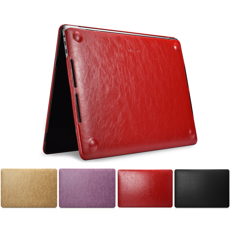 Ordinateur portable étui pour macbook Pro 13 2019 A2159 A1989 A1706 A1708 Luxe Pu Couverture En Cuir étui pour macbook Pro 15 A1707 A1990