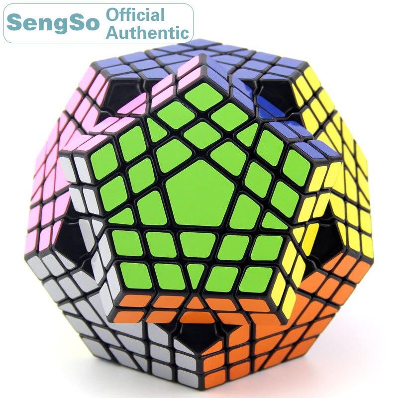 ShengShou Megaminxeds 5x5x5 Cube magique Gigaminxeds 5x5 Cubo Magico professionnel néo vitesse Cube Puzzle Antistress Fidget jouets enfant