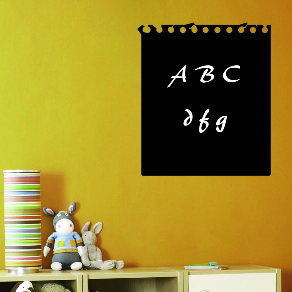 Note Paper Design Creative Chalkboard Sticker Removable Blackboard ...