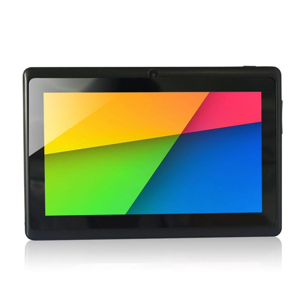 ROM 8GB משלוח חינם Quad CoreTablet מחשב A33 Q88 7 אינץ ' קאפ acitive מסך + Android 4.4 + Wifi + דק 2500mah