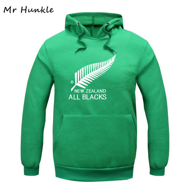 Plus Size XXL 2017 Spring Autumn Fashion Thick New Zealand All Black Men's Printted Sweatshirt Pullover Sportswear Hoodies