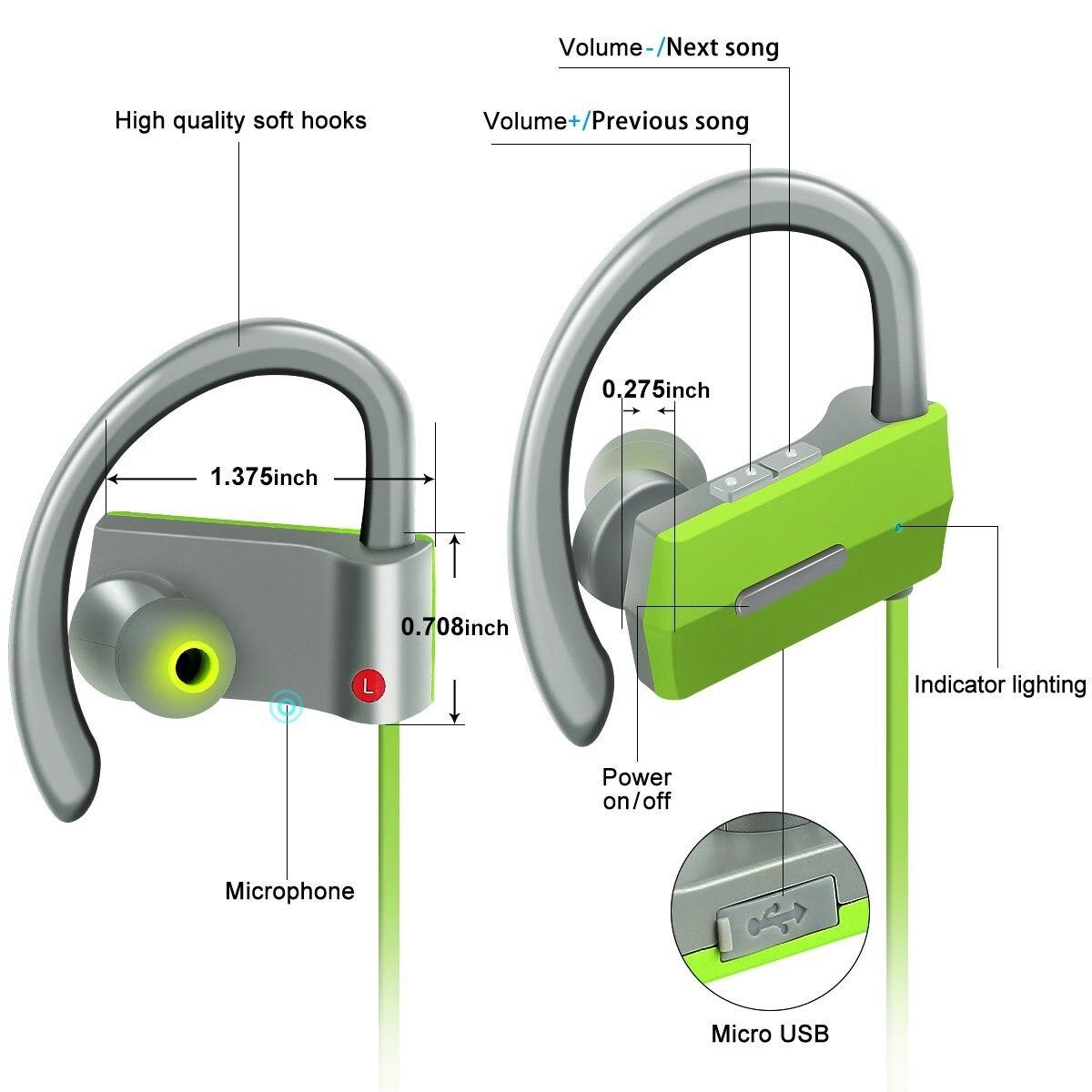Ubit BH-05 Auricular Bluetooth para deportes con micrófono - Audio y video portátil - foto 4