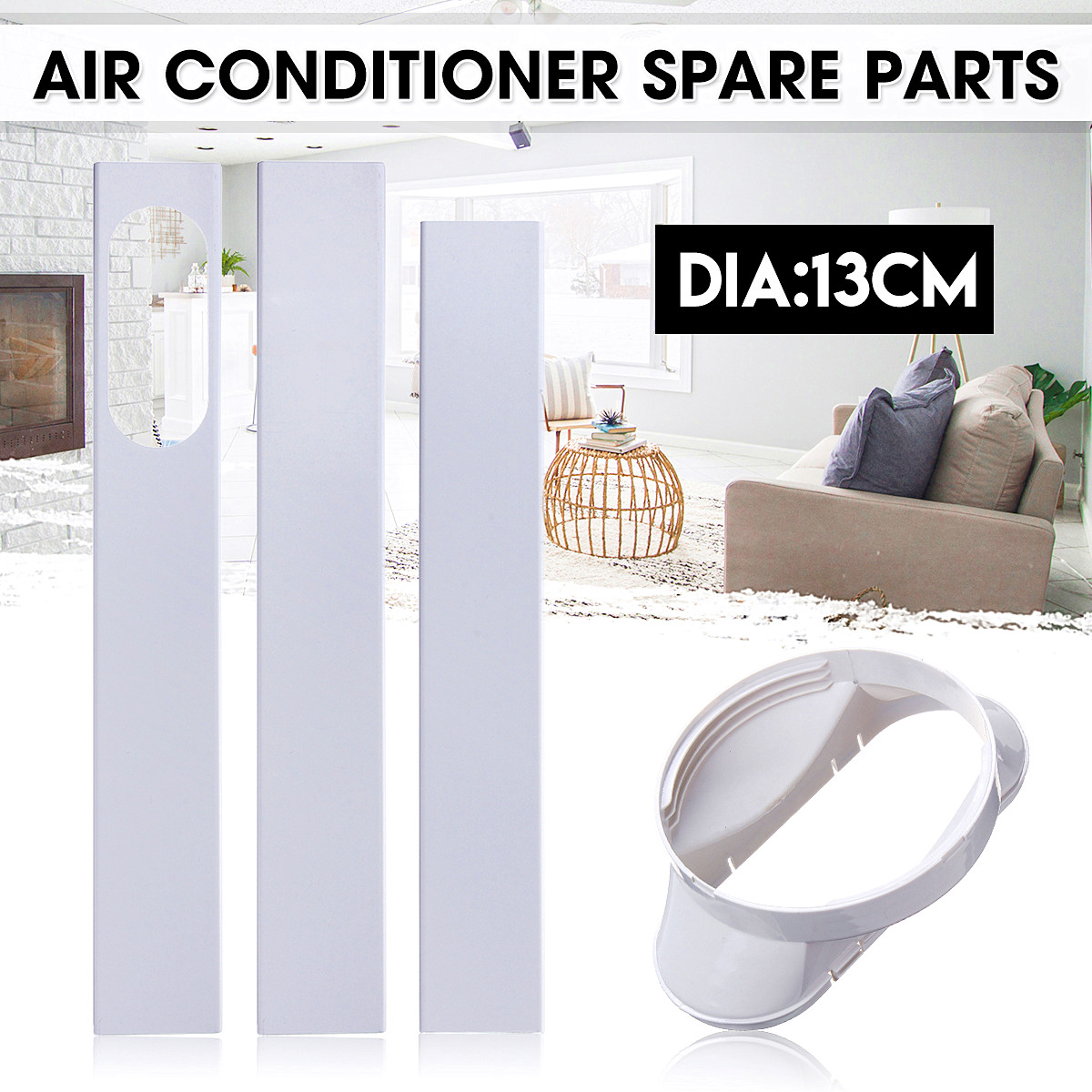 Window Slide Kit Plate Adjustable+Window Adaptor For Portable Air Conditioner