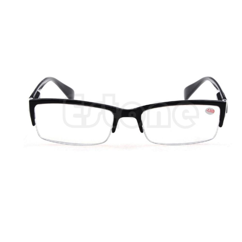 Lesebrillen 1 StÜck Neue Halbrand Brillen Myopie Gläser Schwarzen Rahmen-1-1,5-2-2,5-3-3,5-4 Weihnachtsgeschenke