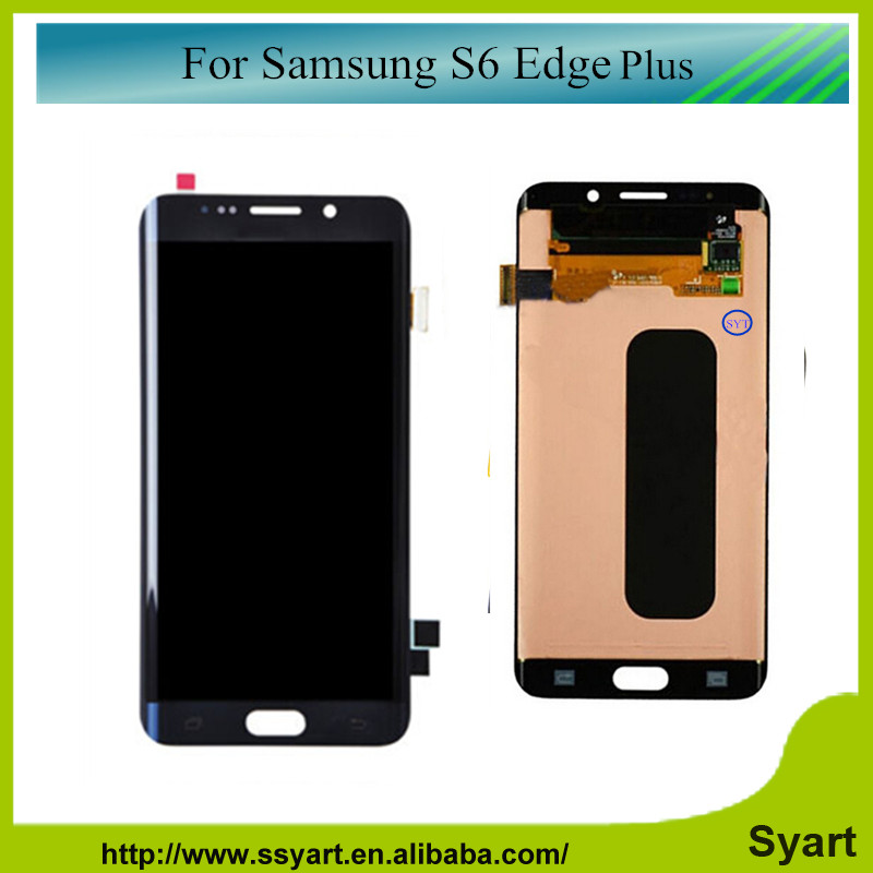 S6 Edge Plus 5.7 inch LCD Touch assembly Screen Digitizer Assembly Replacement For Samsung Galaxy S6 Edge Plus DHL 2PCS