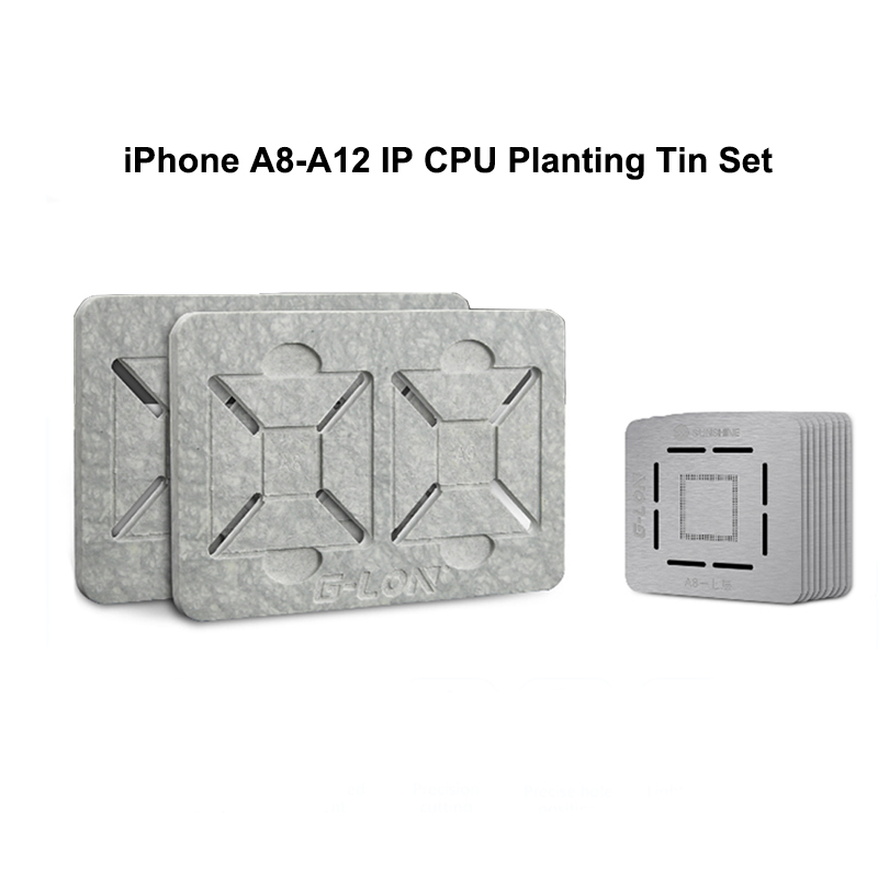 For iPhone CPU A12 A11 A10 A9 A8 Double Side Use Slot Position Platform Motherboard BGA Reballing Stencil Plant Tin Kit Set For iPhone CPU A12 A11 A10 A9 A8 Double Side Use Slot Position Platform Motherboard BGA Reballing Stencil Plant Tin Kit Set
