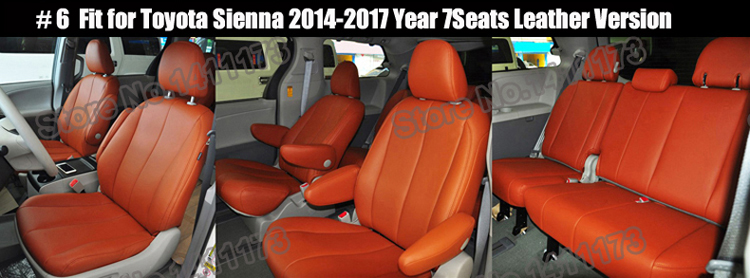 Excellent Us 425 85 49 Off Cartailor Car Seat Cover Set For Toyota Sienna Automobiles Seat Covers Quality Pu Leather Cover Seat Car Styling Seat Protector In Ncnpc Chair Design For Home Ncnpcorg