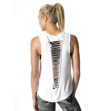 S XL Cutout Sexy Backless Shirt Women Sleeveless Yoga Top Shirts Plus Size font b Fitness