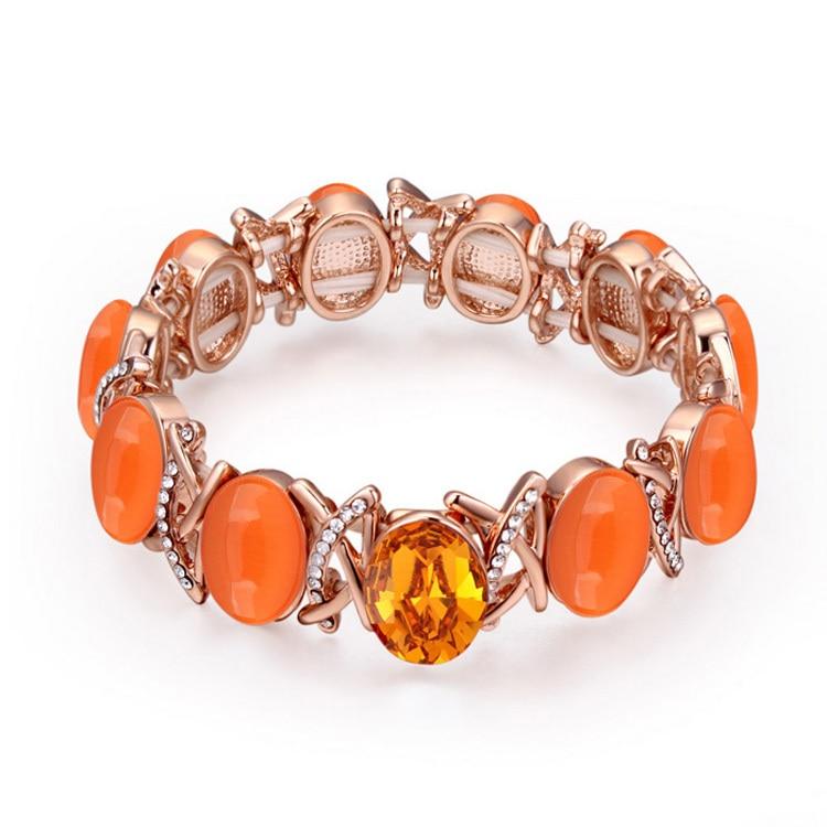 825eac350a24 Moda OPAL pulseras de cristal de las mujeres bandas de goma pulsera hecho  con elementos austríacos al por mayor